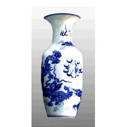 dragon design vase