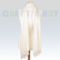 off-white shawl scarf craft mart