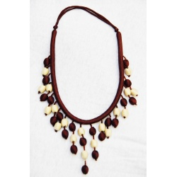 Brown and Cream color handmade jewelry