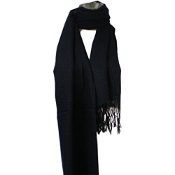 Handwoven Woolen Female Shawl – Black color - Handgewebter wollener Damen Schal